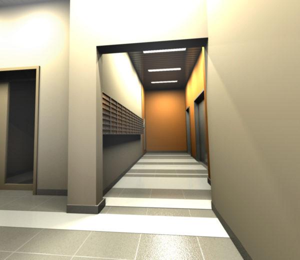 Лифтовый холл 1 этажа